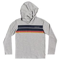 Quiksilver Anzio Hooded T-Shirt - Light Grey Heather