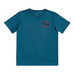 Quiksilver Time Circle T-Shirt - Blue Coral