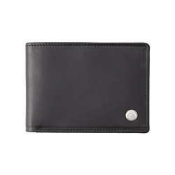 Quiksilver Mack 2 Leather Wallet (2020) - Black
