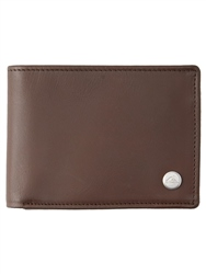 Quiksilver Mack 2 Leather Wallet - Chocolate Brown