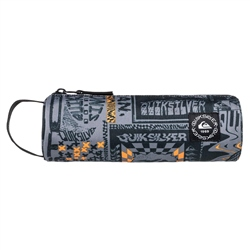 Quiksilver Pencilo Print Pencil Case - Flame Orange