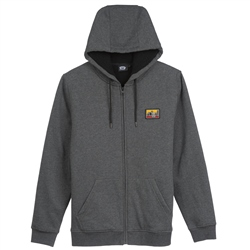 Animal Farthings Zipped Hoody - Dark Charcoal Marl
