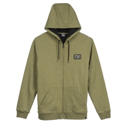 Animal Farthings Zipped Hoody - Winter Moss Green Marl