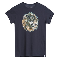 Animal Earthern T-Shirt - India Ink Blue