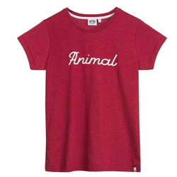 Animal Lowgo T-Shirt - Dragon Red Marl