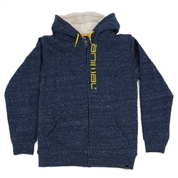 Animal Stanto Boys Fur Zipped Hoody - Poseidon Blue Navy Marl
