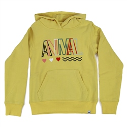 Animal Rachelle Girls Hoody - Buttermilk Yellow Marl