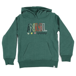 Animal Rachelle Girls Hoody - Oil Blue Marl