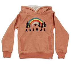 Animal Voyager Fur Hoody - Orange