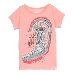 Animal Unicat Girls T-Shirt - Sunset Orange