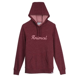Animal Scribble Hoody - Dragon Red