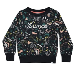 Animal Chase Sweatshirt - India Ink Blue Marl