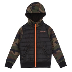 Animal Reco Hoody Zipped Fleece - Camo