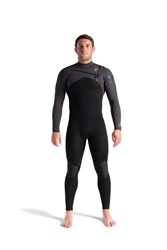 C-Skins Rewired 4/3mm Chest Zip Wetsuit - Black, Meteor X & Lime (2021)