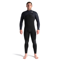 C-Skins Rewired 5/4mm Chest Zip Wetsuit - Black, Black X & Ultra Cyan (2021)