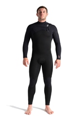 C-Skins Session 5/4mm Chest Zip Wetsuit - Black, Black Diamond & White (2021)