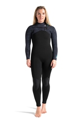 C-Skins Rewired 5/4mm Chest Zip Wetsuit - Raven Black, Black X Shade & C-Green (2021)