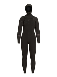 Roxy Syncro 5/4mm Chest Zip Hooded Wetsuit (2020) - Black & Jet Black