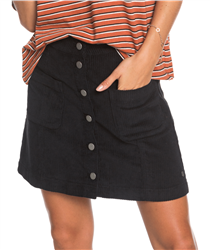 Roxy Warning Sign Skirt - Anthracite