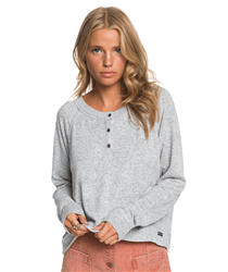 Roxy Take It Home Heather Top - Heritage Heather