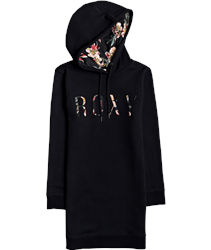 Roxy Be Rider Hooded Dress - Anthracite