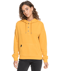 Roxy Girls Who Slide Hoody - Mineral Yellow