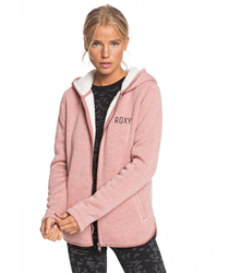 Roxy Slopes Fever Zipped Hoody - Dusty Rose