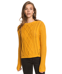 Roxy England Skies Jumper - Mineral Yellow