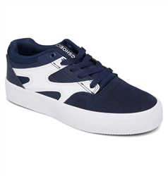 DC Shoes Kalis Vulc Shoes - Navy & White