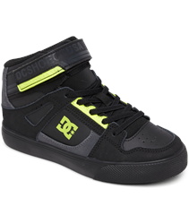 DC Shoes Pure High Top Shoes - Black & Yellow