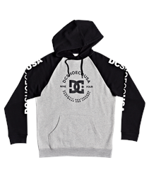 DC Shoes Star Pilot Hoody - Heather Grey & Black