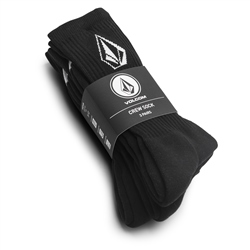 Volcom Full Stone 3 Pack Socks - Black