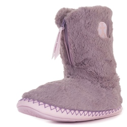 Bedroom Athletics Monroe Slipper Boot - Aquarelle & Dusky Pink