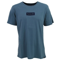 Hurley One & Only Small Box T-Shirt - Blue & Obsidian