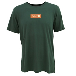 Hurley One & Only Small Box T-Shirt - Vintage Green & Orange