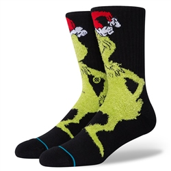 Stance Mr Grinch Womens Socks - Black