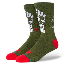 Stance Renegades Womens Socks - Army Green