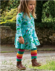 Frugi Rainbow Tights - Rainbow