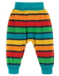 Frugi Parsnip Trousers - Bumble Bee Rainbow Stripe