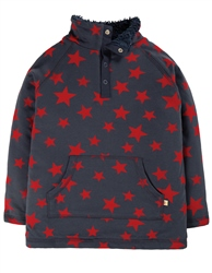 Frugi Lil Snuggle Fleece - Indigo Scattered Star