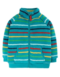 Frugi Ted Zipped Fleece - Tobermory Rainbow Stripe