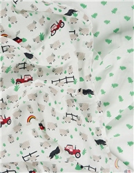 Frugi Lovely 2 Pack Muslins - Tractor