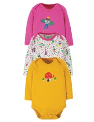 Frugi 3 Pack Body Babygrow - Fairy