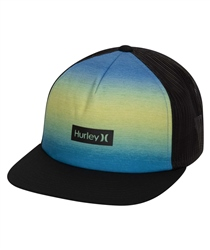 Hurley Print Square Trucker - Blue