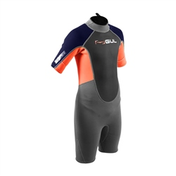 Gul Response Shorty Wetsuit (2020) - Jet Grey & Orange