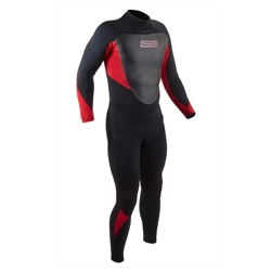 Gul Response Back Zip 4/3mm Wetsuit (2020) - Black & Red