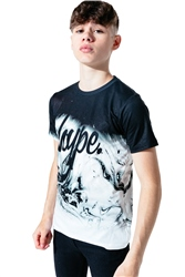 Hype Marble Fade T-Shirt - Black & White