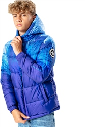 Hype Blue Drips Puffer Jacket - Blue