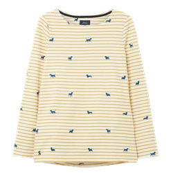 Joules Harbour Print T-Shirt - Dog Stripe