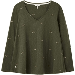 Joules Harbour Swing T-Shirt - Green Bees